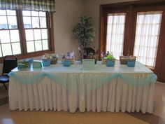 Raffle baskets at bridal shower; money goes into Honeymoon Fund for the bride.