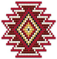 Native Style Red Sunburst
