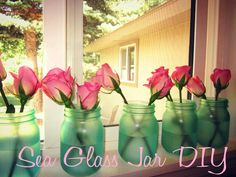 DIY Sea glass jars