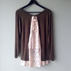 💐 Bundle SALE 💐 Free People Fantastic Fawn Top Boho-chic olive top with lace embellishment back by Fantastic Fawn sold by Free People.  Excellent condition.  Bundle this item along with 2 or more items from my closet and save an extra 10% off!   Feel free to comment below if you have any questions :)  Thanks Free People Tops