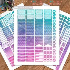 Watercolor Roses, Printable Planner Stickers, Erin Condren Sticker,Monthly/Weekly Kit,Erin Condren Life Planner,Planner Kit,Instant download