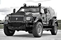 Move over Hummer, there's a new gas-guzzler in town! When the world ends, the only thing left standing will be the Knight XV. This super-duper, luxury, high-tech, mega-monster, produced by Conquest Vehicles in Toronto, Canada, is the only way to tote your precious cargo around in these sketchy times.  The armored sports-utility truck (more like tank) weighs 13,000 pounds and carries 325 horsepower for...