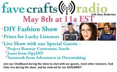 Did you listen to today's show? No?! Well, just listen online anytime and be sure to enter this giveaway! FaveCrafts Radio, 2nd Tuesday each month at 11a EST with @Amy Anderson.