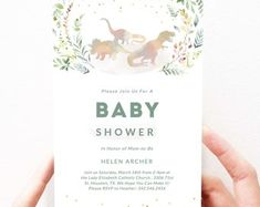 Dinosaur Baby Shower Invitation | Dinosaur Baby Shower Ideas