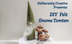 DIY Felt Gnome Tomte Decoration #lovewinterart - YouTube