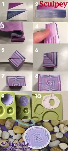 cabochon with mold picture tute ~ Polymer Clay Tutorials