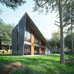 Triangular House Plans and Design in Belgium France front Triangular House Plans and Design in Belgium, France