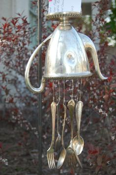 So cute Shelley! 'used' vintage coffee pot wind chime