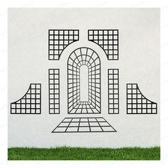 This modular set of decorative black steel trellises offers the perfect way to transform an outside wall. Modern Garden Design, Modern Design, Lanai Patio, Stencil Patterns, Garden Trellis, Gate Design, Garden Structures, Glass Garden, Illusions