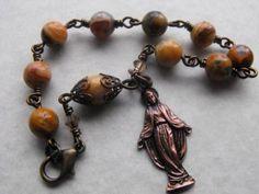 Vintage Style Virgin Mary Chaplet Bracelet - absolutely beautiful