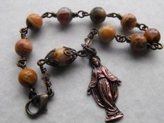 Vintage Style Virgin Mary Chaplet Bracelet - absolutely beautiful