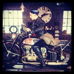 Danielle Colby from American Pickers on a VW cycle?  Curious...