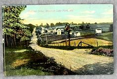 mt lake park md history | quality post card of Oakland Drive at Mountain Lake Park , Maryland ...