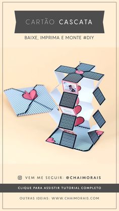 Diy Birthday Gifts – Home DIY and Crafts – Inspiration, tips and ideas Diy Gifts To Make, Diy Gifts For Him, Diy Crafts For Gifts, Diy Gifts For Boyfriend, Diy Arts And Crafts, Paper Crafts Origami, Easy Paper Crafts, Diy Paper, Origami Cards