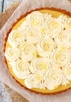 Creamy Lemon Tart - sweet, tart and delicious!
