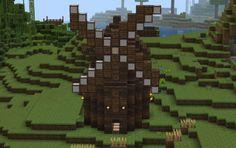 Windmill Minecraft Medieval, Minecraft Decorations, Minecraft Creations, Minecraft Buildings, Windmill