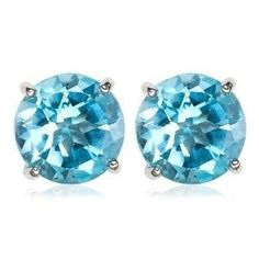 '2ct Genuine Topaz Gemstone & Sterling Silver Studs' is going up for auction at  7pm Wed, Jan 9 with a starting bid of $5.
