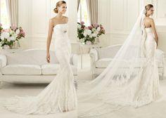 Pronovias 2013 Dietrich, lace wedding dress