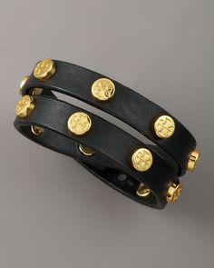 The newest guest to my arm party--Logo Studded Bracelet - Tory Burch