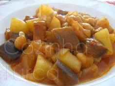 Cozinha Turca: Estufado de Beringela com Grão-de-bico (Nohutlu Pa...