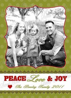 Christmas Photo Card  Customized DIY by SweetBeeDesignShoppe, $15.00