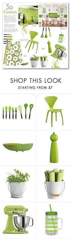 """So Green"" by artplusdesign ❤ liked on Polyvore featuring interior, interiors, interior design, home, home decor, interior decorating, BergHOFF, Zassenhaus, Anja and Matteo"