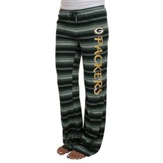 Green Bay Packers Ladies Nuance Striped Knit Pant - Green