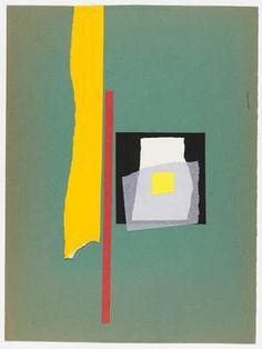 untitled (graphic composition) c.1951. Paper collage,  Bruno Munari (Italian, 1907–1998)