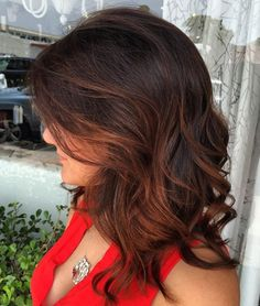 Dark Brown Hair With Auburn Highlights