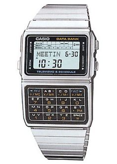 56da457531c Casio Men s Vintage Stainless Steel Band 50 Telememo Calculator Watch Old  school type calculator databank from Casio which is very retro in design.