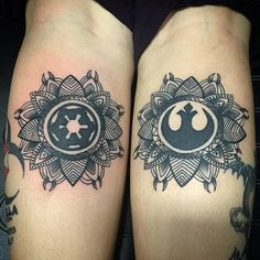 """Star Wars mandalas? Yes please! #deidrezinntattoos #atomictattoos…"