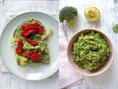 Broccolispread met avocado, limoen en koriander