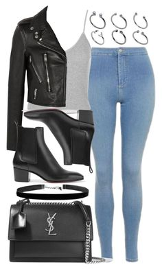 Style #11435 by vany-alvarado on Polyvore featuring polyvore, fashion, style, Topshop, Yves Saint Laurent, Christian Louboutin, ASOS and clothing