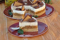 Tort tip Diplomat cu mere Ital Food, Eat Pray Love, Romanian Food, Hungarian Recipes, Confectionery, Cake Art, Sweet Treats, Cheesecake, Food And Drink