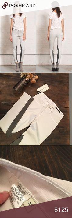 d 2xhp d rag bone jodhpur white and grey jeans nwt