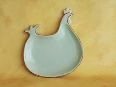 Plate - Hen Shaped / Cottage Style / Ceramic:   Get it now for $11.00