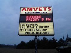 LED Sign, Amvets Post 120