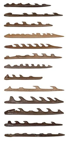 Harpoons vary in size and shape. Mesolithic Denmark
