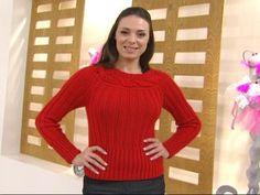 Manualidades y Artesanías | Sweater con canesú atravesado | Utilisima.com