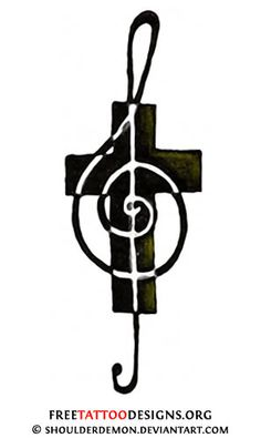cross with music notes - Google Search
