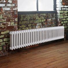 Milano Windsor - Traditional 33 x 2 Column Radiator Cast Iron Style White 300mm x 1508mm
