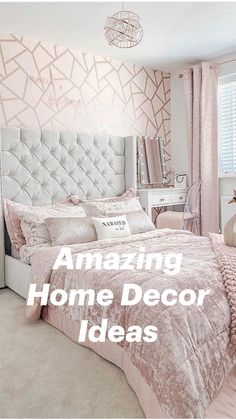 Teen Bedroom Designs, Room Design Bedroom, Luxury Bedroom Design, Room Ideas Bedroom, Small Room Bedroom, Home Bedroom, Girls Bedroom Decorating, Serene Bedroom, Feminine Bedroom