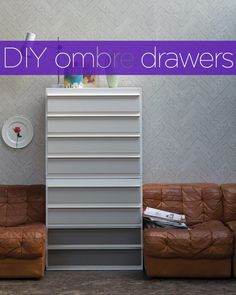 DIY project: Ombre painted drawers