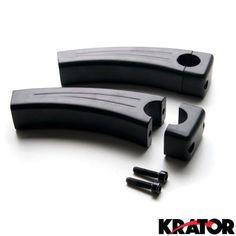 Krator® 5.5' Black Motorcycle Handlebar Pullback Risers For Harley Davidson Softail Springer Heritage Classic