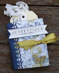 Artfull Crafts: Lisa with a mini tag album using Authentique - Genuine