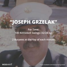 Perform the burpees at the beginning each minute, starting at until all kettlebell swings are completed. Dedicated by to Firefighter Joseph Grzelak who was killed in New York in the attacks on September Fit Board Workouts, Running Workouts, Fun Workouts, At Home Workouts, Sandbag Workout, Wod Workout, Boxing Workout, Kettlebell Training, Kettlebell Swings