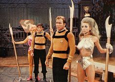 "Star Trek ""Throngs,"" or is that what they're wearing?"