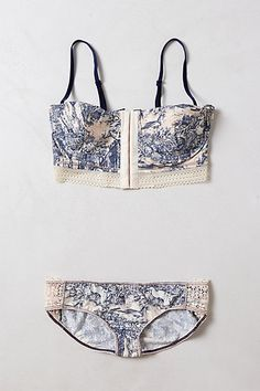 woodlands toile bra and hipster set