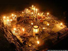Altar setup for Mabon