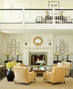Living room with fireplace - how to arrange the furniture